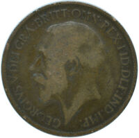 1917 HALF PENNY OF GEORGE V.     #WT15602