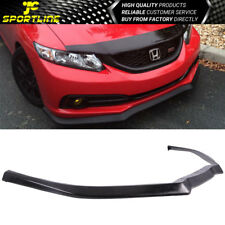 Fits 13 14 15 Honda Civic Sedan PU Front Bumper Lip USDM Model CS Style