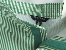 Brooks Brothers Boys Swimsuit in Green Pinstripe MSRP $60 NWT COOL! -  sz 18