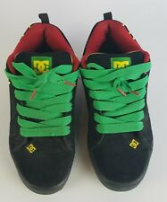 Men's D.C. Shoes black, Green and Red Rasta size 12