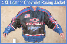 Chevrolet leather 4X jacket Leather Racing Jacket for Events Carlisle Car Shows
