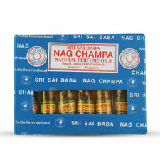 Natural Sri Sai Nag Champa Perfume Oil Set 6 Bottles Containing 3 ml Each