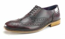 Frank James Redford Brogues Lace Up Formal Mens Leather Shoes Burgundy