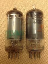 Lot of 2 Vacuum Tubes 6GY6 & 6GX6 Sylvania Made in USA