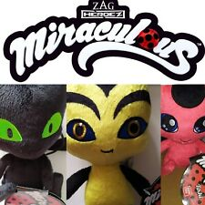MIRACULOUS SOFT PLUSH 15cm STUFFED TOY TIKKI PLAGG POLLEN OFFICIAL BANDAI TOYS