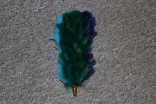 ORIGINAL BRITISH ARMY ROYAL CORPS SIGNALS PIPER THREE 3 COLOUR FEATHER HACKLE