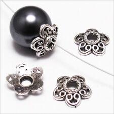 Lot 20 Calottes pour bijoux Fleurs Métal style Tibétain 12 x 3 mm / Trous 3mm