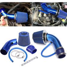"Air Intake Filter Induction Pipe Kit 3"" Car Cold Hose System Blue Universal Set"