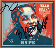 SIGNED DEAD KENNEDYS JELLO BIAFRA AUDACITY OF HYPE AUTOGRAPHED CD W/PIC