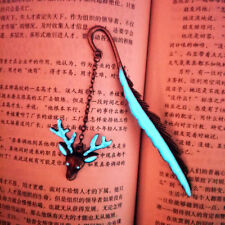 Luminous Antique Silver Bookmarks Pad Note Memo Stationery Novelty Book Mark