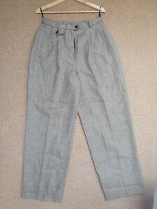 Vintage high waisted Ralph Lauren linen wool trousers 10