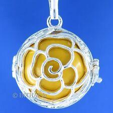 Markenlose Echte Edelmetall-Anhänger ohne Steine aus Sterlingsilber mit Florales