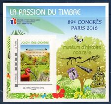 TIMBRE BLOC 89° CONGRES  FFAP N° 11  PARIS  2016 MUSEUM D'HISTOIRE NATURELLE