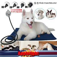 Pet Warm Electric Heating Dogs Pad Mat Carpet Waterproof Adjustable Temperature