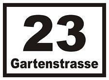 Hausnummern-Aufkleber f. Briefkasten Mülltonne etc.