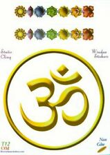Om & Chakras Static Cling Window Sticker