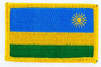 RWANDA RWANDESE FLAG PATCHES backpack PATCH BADGE IRON ON NEW EMBROIDERED