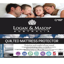 LOGAN AND MASON Quilted Mattress Protector DOUBLE BED SIZE Premium brand NEW