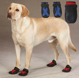 X-Treme Weather Dog Boots Snow Paw Protection Hiking Reflective Extreme Red Blue