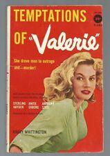 TEMPTATIONS OF VALERIE Harry Whittington 1st P 1957 Avon T-197 Anita Ekburg Pix!