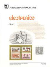 #18 6c/15c Electronics #1500-2/C  USPS Commemorative Stamp Panel in orig sleeve