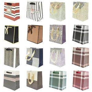 12 pezzi SHOPPER REGALO Carta Buste Sacchetti Cartoncino Bustine Shopping