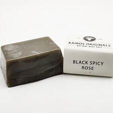 Black Spicy Rose Handmade Natural Vegan Soap Bar - Kairos Originals
