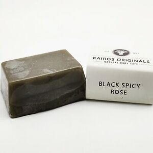 Black Spicy Rose Handmade Natural Vegan Soap Bar-Gentle on skin -Kairos original