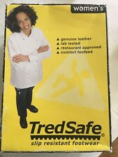 Tredsafe Leather Slip Resistant Chef Waiter Restaurant Server Shoes Size 7 w/Box
