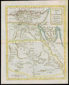 1787 - Rare Original Antique of EGYPT Carte de L'EGYPTE by de la Tour (22)