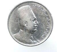 Egypt king Fuad I silver coin 10 piastres