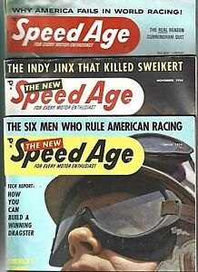 3 Speed Age 1956 Dragster Stock Car Indy Triumph TR-3 Ford Chevrolet Moss Fangio