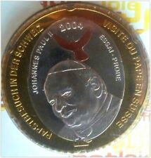 Trial coin 5 Europ - visit of Pope John Paul II Switzerland 2004