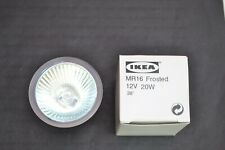 IKEA SANSA  MR16 FROSTED 12VOLT 20WATT F448 ENCLOSED 38 DEGREE LAMP (0282)