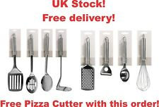 Set of 8 pcs STAINLESS STEEL COOKING KITCHEN utensil spoon  FREE PIZZA CUTTER!