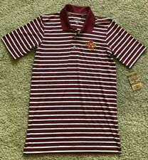 Mens Red Stripe Short Sleeve Iowa State Polo Top Small