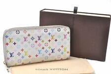 Auth Louis Vuitton Monogram Multicolor Zippy Wallet Purse White M60243 LV A6642