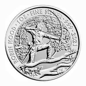 Großbritannien 2 Pfund Robin Hood Myths & Legends Serie .999 Silber 2021 1. Ausg
