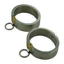 bracelet de cheville graves ovale bondage BDSM large foot shackle Ø 68x87mm