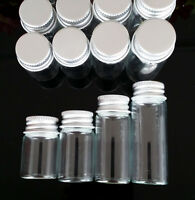 20 PCS 6/7/10/14ml Small Transparent Empty Bottles With Cork lids Glass Vials