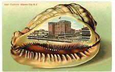 Atlantic City NJ -HOTEL CHALFONTE-Lange Schwalbach Shell Border Postcard
