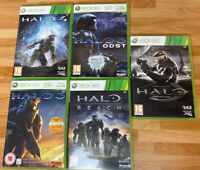 Halo Xbox 360 Bundle Of 5 All With Manuals And Cases, All In Good Condition
