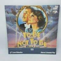 To Be Or Not To Be Laserdisc Warner Brothers Carole Lombard New and Sealed