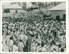 1935 Italio-Ethiopian War Troops March to Front Original News Service Photo