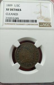 1809 1/2 C. Half Cent. NGC XF Details