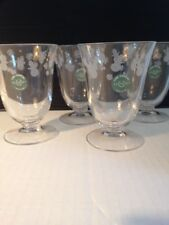 Lenox Crystal Snowman Etched Glasses Set of 4, NIB, Retired