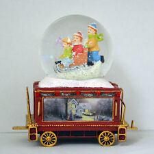 Wonderland Express Snow Dome Water Globe Train Set #12 Thomas Kinkade Christmas