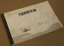 Terex TA30 Articulated Truck Operation Safety Maintenance Manual