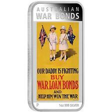 Australia 2016 Posters of World War I – War Bonds 1 OZ $1 SILVER Rectangle COIN