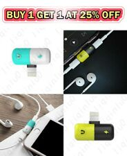 2 in 1 Lightning Adapter Headphone Audio Charger Cable Splitter For iPhone 11 Xs